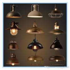 whole vintage industrial lighting copper lamp holder metal pendant light american aisle lights lamp edison bulb 110v 260v hanging lamp shade copper