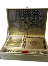 indian traditional wedding scroll box invitation