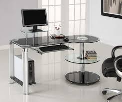 geoglass small smoked black glass laptop desk  sized to fit