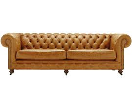 vintage chesterfield 4 seater leather sofa