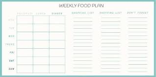 Meal Planning Template Create Your Own Meal Planner