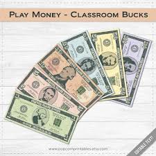 Free Money Templates Gorgeous Classroom Bucks Play Money Instant Download PDF File Etsy