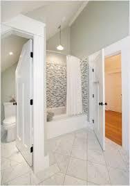 gray tile floors floor gray tile gray gray wall ceiling white slanted ceiling wall pendant pendant lights bathroom slanted ceiling wall shower lighting