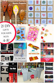 Here are 21 gifts you can make for a 4-8 year old child. DIY Gifts Kids | Creative K