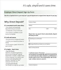 Direct Deposit Form Template 9 Free Pdf Documents Download Free