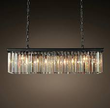 odeon glass fringe rectangular chandelier contemporary