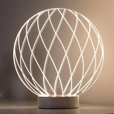 modern table lamp mesh with 3d led lighting effect 7600888 01