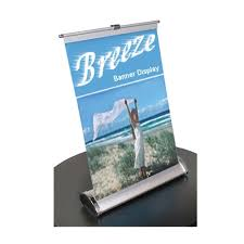 Retractable Display Stands Breeze Retractable Tabletop Banner Stand Display for Trade Shows 60