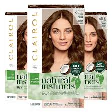 Caramel Brown Hair Color Chart Clairol Natural Instincts Hair Color 6bz 12a Light Caramel Brown Pack Of 3