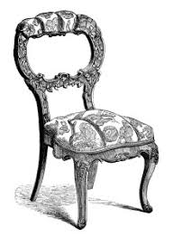 vintage chair clip art black and white clipart antique chair