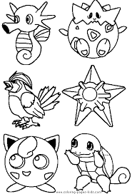 Small Picture Pok mon color page Coloring pages for kids Cartoon characters