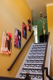 staircase wall decoration with photographs