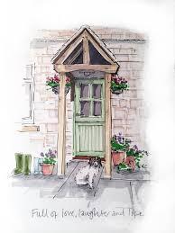 Front Door Drawing The Door Is Always Open Front Drawing Nongzico