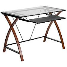 Office Depot Flash Furniture Glass Computer Desk With