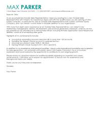 Outside Sales Representative Cover Letter Sample Sales Cover Letter