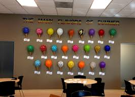 office party decorations. ice cream balloons office party decorations