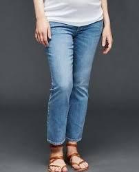 Details About Gap Maternity Crop Kick Jeans W Demi Panel Light Wash Size 8 Nwt