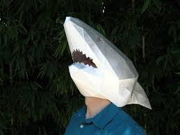 tetra variations diy paper shark mask noveltystreet we re going to need a bigger paper boat