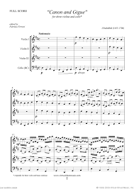 pachelbel canon violin sheet music pachelbel canon in d sheet music for three violins and cello