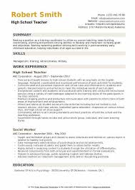 Specific tips and tricks for the teaching job industry. High School Teacher Resume Samples Qwikresume