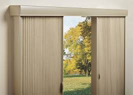 featured on our vignette traversed with vertiglide shades both are ideal choices for side to side openings sliding glass doors or as room dividers