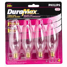 philips 25w chandelier light bulbs 4 pack 160135