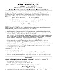 Resume Sample Resume For A It Project Manager Pmo Analyst