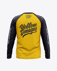 Free half sleeves front and back jersey mockup psd. Men S Raglan Long Sleeve T Shirt Mockup Back View In Apparel Mockups On Yellow Images Object Mockups Shirt Mockup Clothing Mockup Tshirt Mockup