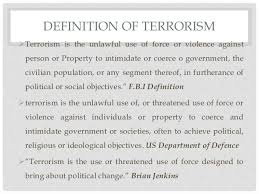terrorism causes effects and solutions definition