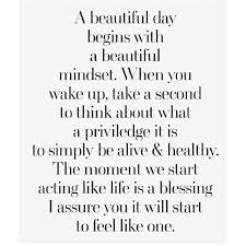 Its A Beautiful Day Quotes Best of A Beautiful Day Begins With A Beautiful Mindset QUOTES