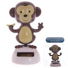 solar powered dancing monkey dashboard toy home or car
