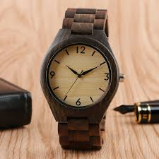 details about hot nature full wooden watch men quartz wood wrisch bracelet fold clasp