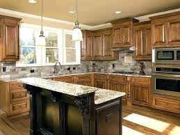 ideas for decorating kitchen countertops shape brown kitchen cabinet decor idea black