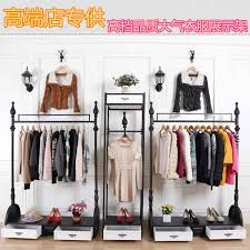 Apparel Display Stands Iron display rack clothing display floor clothing store store 48