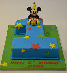 Number 1 Mickey Mouse Birthday Cake Childrens Birthday Cakes