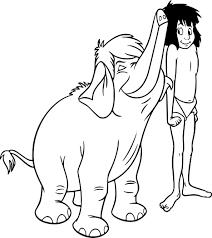 Coloriage Mowgli Et Junior Imprimer