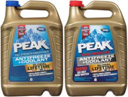 Ford Coolant Chart Peak Antifreeze Coolants Oet Coolants 50 50 Coolant