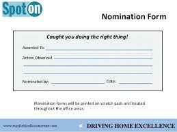 Employee Recognition Form Template 7 Employee Recognition Nomination Form Template Plan Crugnalebakery Co