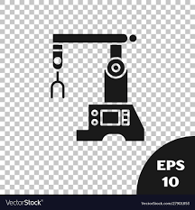 Assembly Line Design Pattern Black Assembly Line Icon Isolated On Transparent