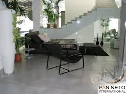 concrete flooring residential polished smooth microconcrete pan neto