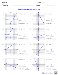 graphing linear equations worksheet algebra 1 worksheets linear equations worksheets template