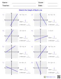 graphing linear equations worksheet algebra 1 worksheets linear equations worksheets template