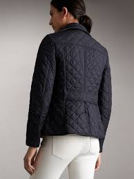 Diamond Quilted Jacket in Navy - Women | Burberry United States & Diamond Quilted Jacket in Navy - Women | Burberry United States - cell  image 2 Adamdwight.com