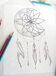 Pictures Of Dream Catchers To Draw Collection of 100 Moon Goddess Dreamcatcher Tattoo Design 86
