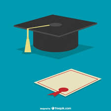 graduation cap and diploma vector  graduation cap and diploma vector