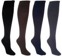 Legacy Graduated Compression Socks Size Chart Legacy Graduated Compression Socks 4 Pack Qvc Com