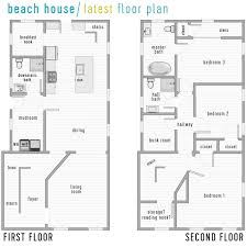 House Plans Stilt House Plans  Bungalow Beach House Plans Beach Cottage Floor Plans