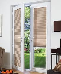 door blinds. French Doors White Framed Pleated Perfect Fit Blinds Door E