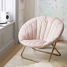lounge furniture for teens. Dusty Blush Lustre Velvet Channel Stitch Hang-A-Round Chair Lounge Furniture For Teens B