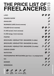 Graphic Design Price List 2016 Prices For Graphic Designers Freelance